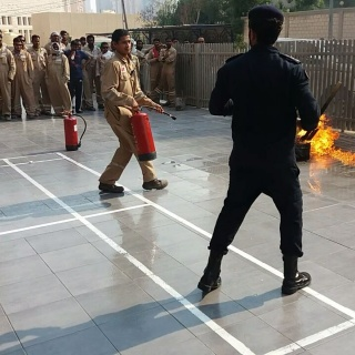 Fire Fighting Training at ISCO Camp - ISCO - Integral Services Co. for Mechanical Contracting & Instrumentation WLL - Multi Disciplinary Contractor in Kuwait