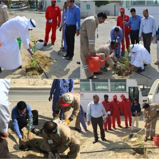 ISCO's Sapling Plantation Drive - ISCO - Integral Services Co. for Mechanical Contracting & Instrumentation WLL - Multi Disciplinary Contractor in Kuwait