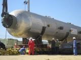Installation of Compressor C-12-02 and Reactor V-12-01 (210 tons)